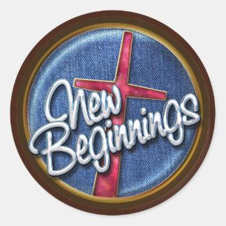 New Beginnings-2 Classic Round Sticker