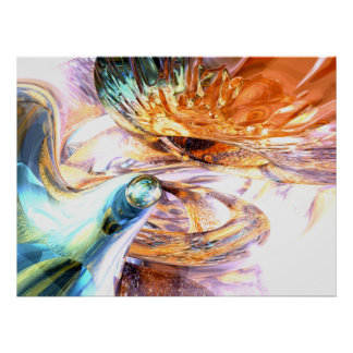 New Beginnings Abstract Poster