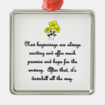 new-beginnings-are-always-exciting-and-offer-much christmas ornament