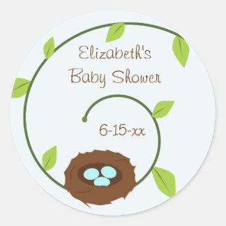New Beginnings Baby Shower Sticker