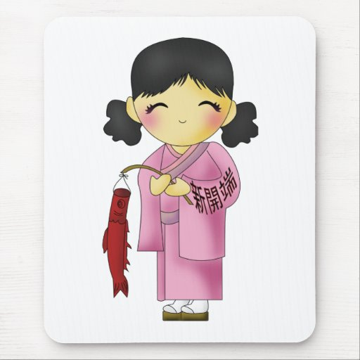 New Beginnings Fish Girl Mouse Pad