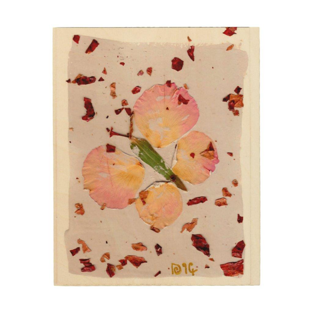 New Beginnings Lucky Butterfly wood wall art