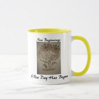 New Beginnings Ohhh! Daisy's!! 15oz Ringer Mug
