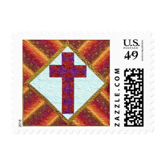 New Beginnings Postage Stamp - Christian Cross