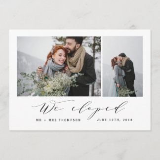 NEW BEGINNINGS-WE ELOPED ANNOUNCEMENT