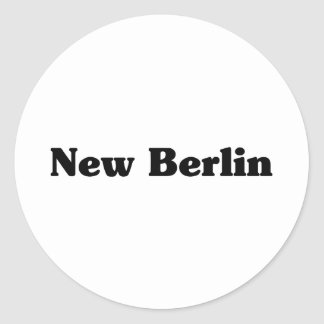 New Berlin  Classic t shirts Round Sticker
