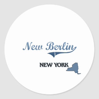 New Berlin New York City Classic Round Sticker