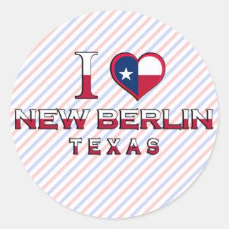 New Berlin, Texas Round Sticker
