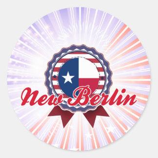 New Berlin, TX Round Stickers