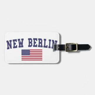 New Berlin US Flag Bag Tag