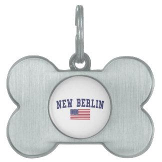 New Berlin US Flag Pet Tag