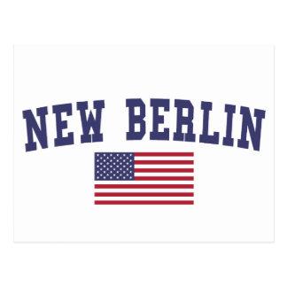 New Berlin US Flag Postcard