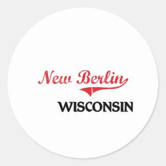 New Berlin Wisconsin City Classic Round Stickers