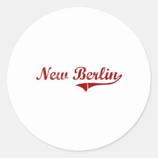 New Berlin Wisconsin Classic Design Round Stickers
