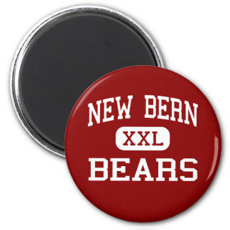 New Bern - Bears - High - New Bern North Carolina 2 Inch Round Magnet