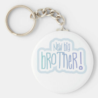 New Big Brother Tshirts and Gifts Basic Round Button Keychain