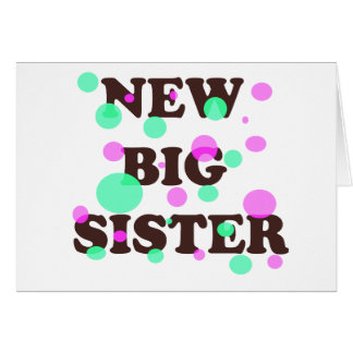 New Big Sister Card