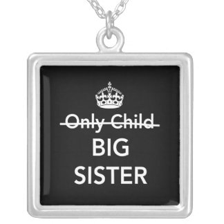 New Big Sister Square Pendant Necklace