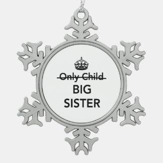 New Big Sister Snowflake Pewter Christmas Ornament