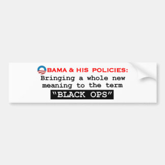 """New """"BLACK OPS"""" Bumper Stickers"""