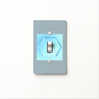 NEW BLUE SINGLE TOGGLE LIGHT SWITCH LIGHT SWITCH PLATE