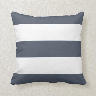 New Blue Slate & White Stripe Pillow Gift