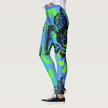 Beach Themed NEW-BLUE-SURFER-BE-BEACH-PATCH-LEGGING'S_XS-XL LEGGINGS