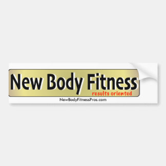 New Body Fitness Bumper Sticker
