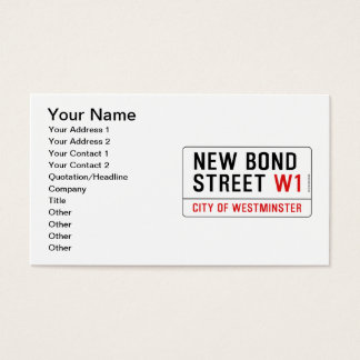 New Bond Street Business Card