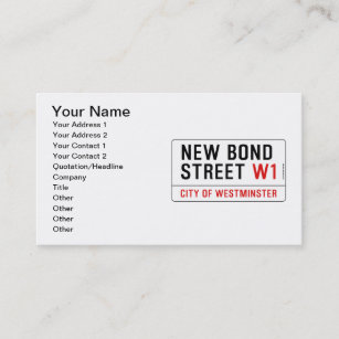 Street sign business cards zazzle new bond street business card reheart Choice Image