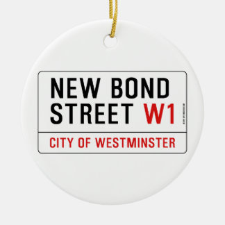 New Bond Street Ceramic Ornament
