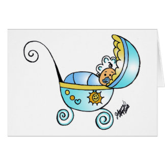new born baby greeting card