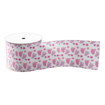 New born girl grosgrain ribbon