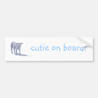 New born lamb pencil sketch bumper sticker