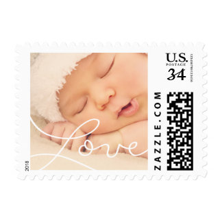 New born photo postage stamp