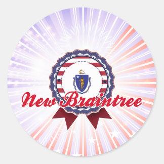 New Braintree, MA Classic Round Sticker