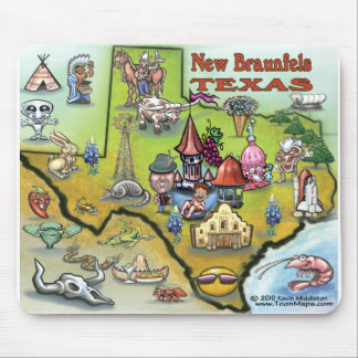New Braunfels TEXAS Map Mouse Pad