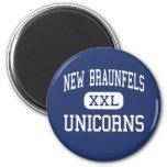 New Braunfels - Unicorns - High - New Braunfels Fridge Magnet