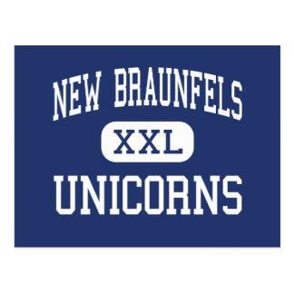 New Braunfels - Unicorns - High - New Braunfels Postcard