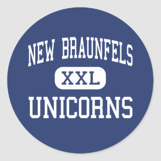 New Braunfels - Unicorns - High - New Braunfels Classic Round Sticker