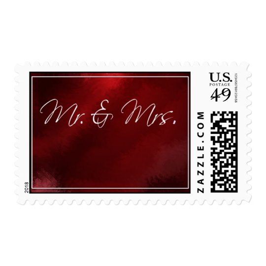 New Bride and Groom Postage Stamp