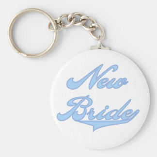New Bride Blue T-shirts and Gifts Keychain