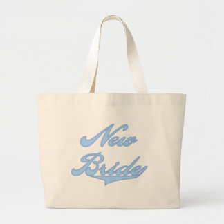 New Bride Blue T-shirts and Gifts Large Tote Bag