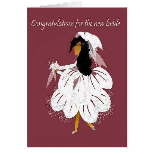 New bride greeting card