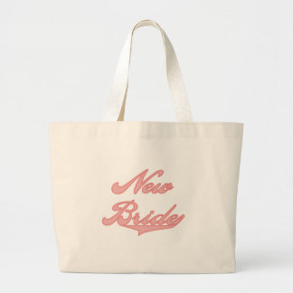 New Bride Pink Tshirts and Gifts Large Tote Bag