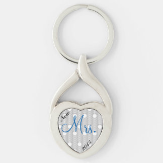 """New Brides """"Mrs"""" Heart Keychain"""