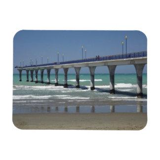 New Brighton Pier, Christchurch Rectangular Photo Magnet