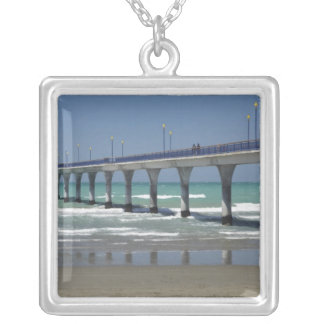 New Brighton Pier, Christchurch Silver Plated Necklace