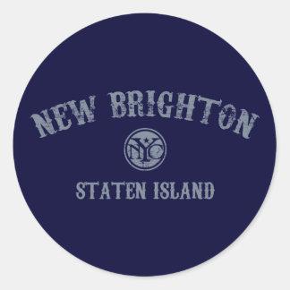 New Brighton Round Stickers