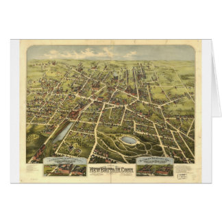 New Britain Connecticut in 1875 Card